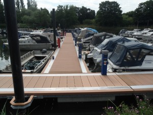 Over looking the main pontoon